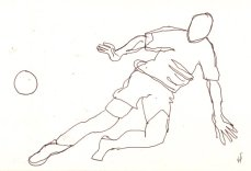 1. Skizze Bewegung Fußballer von Susanne Haun