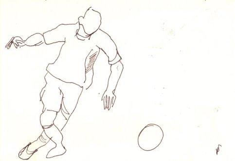 2. Skizze Bewegung Fußballer von Susanne Haun