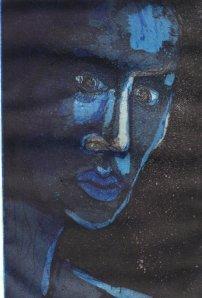 Im Dunkeln - Radierung von Susanne Haun - Aquatinta, 2 Platten, 10 x 15 cm