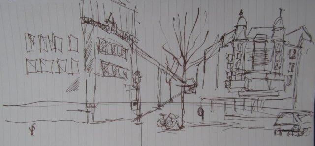 Das Schraderhaus - Skizze 2 von Susanne Haun