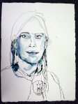 Fast fertig - Portraitzeichnung von Susanne Haun