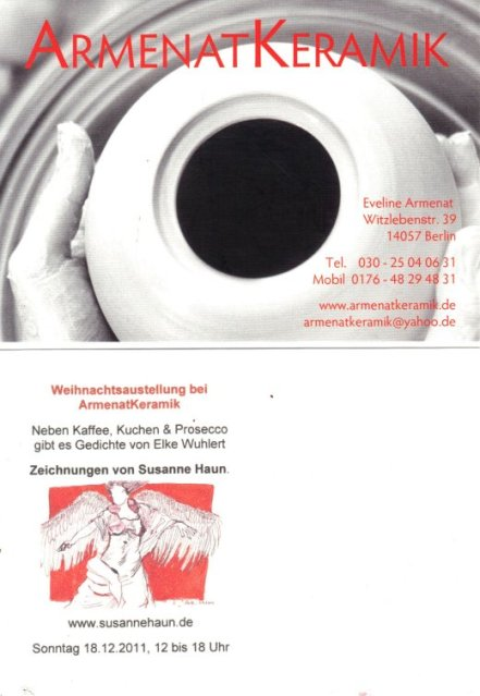 Einladung ArmenatKeramik