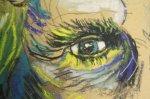 Detail Sinnbild von Steven Pinker - Pastell von Susanne Haun - 30 x 40 cm Hahnemühle Kraftpapier