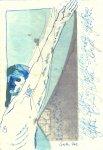 Schweben wie beim Tanzen - Version 2 - ÜberZeichnung von Susanne Haun - Tusche auf Bütten - 40 x 30 cm