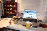 Totenkopf auf meinem Arbeitsplatz (c) Foto von Susanne Haun