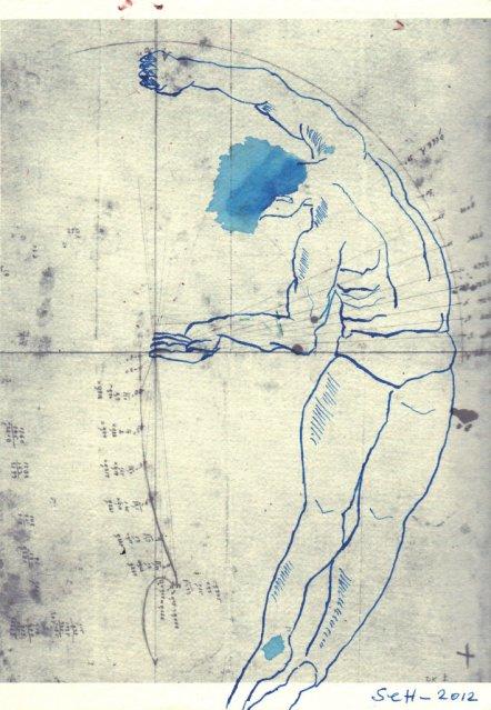 42. Lilienthal - Der FLug (c) Zeichnung Susanne Haun