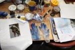 Wohlgeordnetes Chaos beim Arbeiten (c) Foto von Susanne Haun