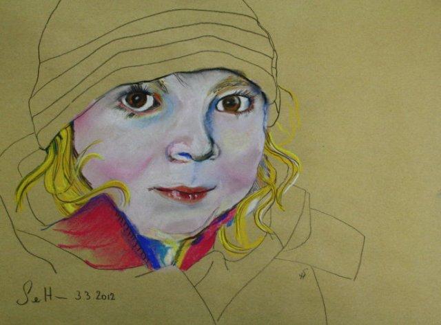 9 Merle 30 x 40 cm Pastellfarben auf Hahnemühle Kraftpapier (c) Pastell von Susanne Haun