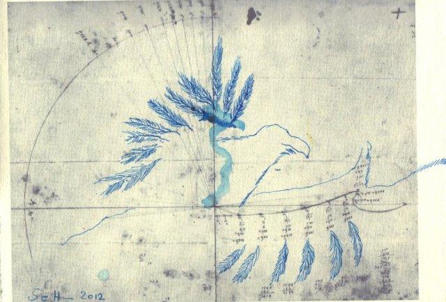 Vogelflug (c) Zeichnung von Susanne Haun