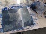 Farbige 2.Platte in blau (c) Susanne Haun