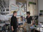 Katrin Günther rechts in ihrem Atelier (c) Foto von Susanne Haun