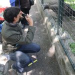 Yara war genauso fasziniert vom Kondor wie ich (c) Foto von Susanne Haun