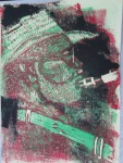 1999 Saxophonist, Linolschnitt 30 x 20 cm nach dem Prinzip der verlorenen Form Auflage 25 (c) Susanne Haun