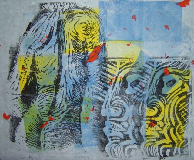 2004 Adam und Eva 20 x 30 cm (c) Linoldruck von Susanne Haun