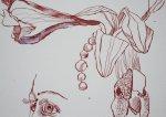 Die Lilie entsteht (c) Zeichnung von Susanne Haun (3)