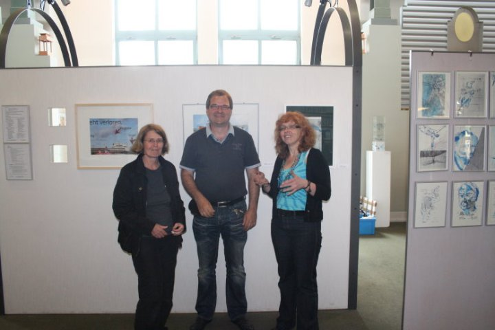 Hängen in der Humbold Bibliothek (c) Fotos von Peggy Blankenburg