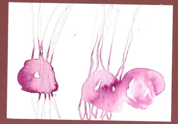 Kirschen 10 x 15 cm Tusche auf Bütten (c) Zeichnung von Susanne Haun