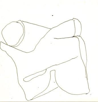 Kissen 10 x 10 cm (c) Zeichnung von Susanne Haun