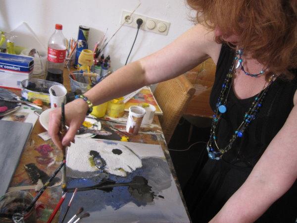 Susanne haun schön mal wieder acryl zu malen c foto von conny