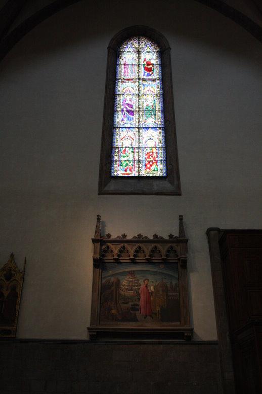 gemälde von Dante im Exil im Dom in Florenz (c) Foto von Susanne Haun