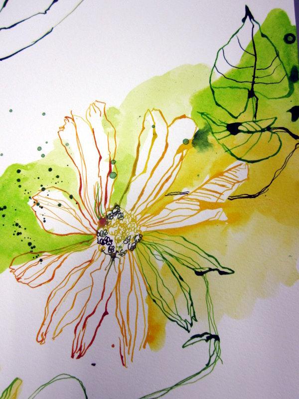 14 detail stand der dinge gelbe blumen c zeichnung von susanne haun susanne haun. Black Bedroom Furniture Sets. Home Design Ideas