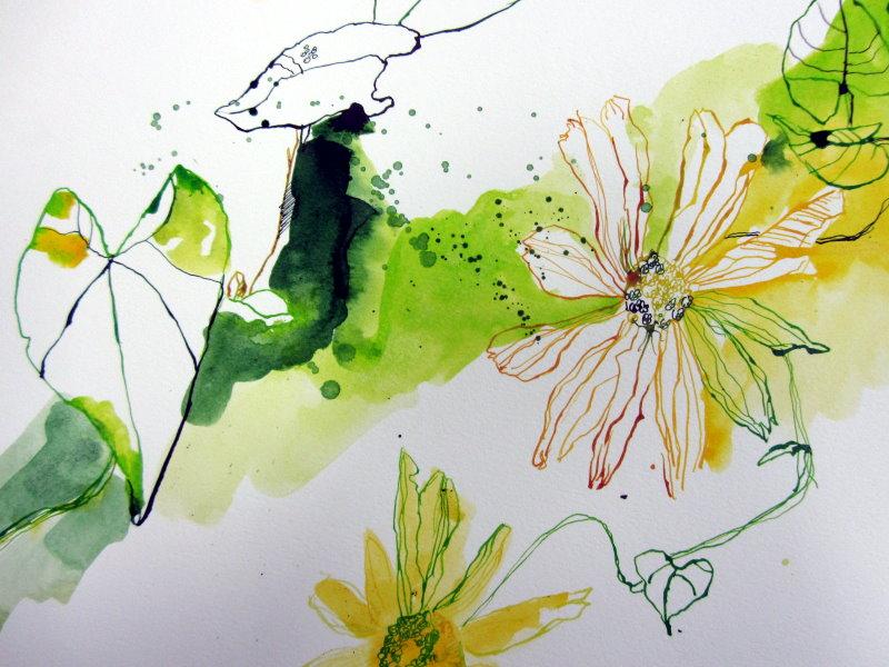15 detail stand der dinge gelbe blumen c zeichnung von susanne haun susanne haun. Black Bedroom Furniture Sets. Home Design Ideas