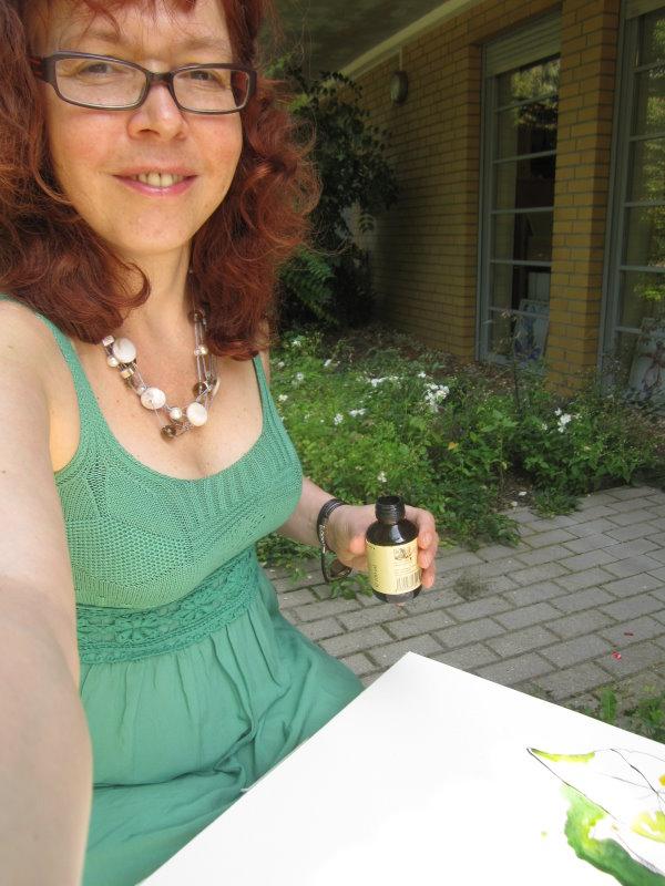die gelben blumen vor meinem atelier zeichnungen von susanne haun susanne haun. Black Bedroom Furniture Sets. Home Design Ideas