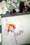 Der Engel Uriel erklärt die Sterne (c) Zeichnung von Susanne Haun