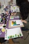 Farbübungen im Atelier im Laienbrüderhaus des Klosters (c) Foto von Susanne Haun
