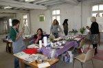 Nach getaner Arbeit ist es bei uns im Atelier fröhlich (c) Foto von Susanne Haun