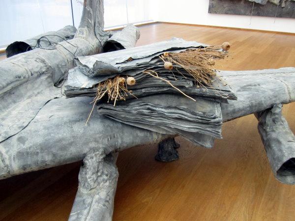 Detail aus dem Objekt Mohn und Gedächtnis von Anselm Kiefer (c) fotografiert von S.Haun