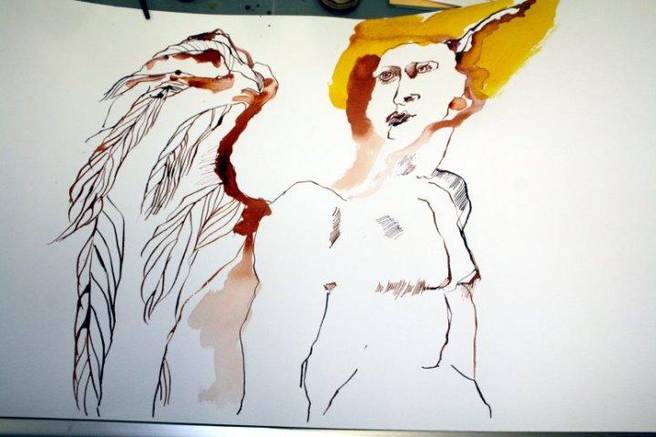 Engel Raphael (c) Zeichnung von Susanne Haun