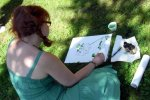 Ich beim Weinzeichnen - Foto von Viola