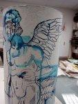 Auch der Titan Prometheus bekommt Flügel (c) Zeichnung von Susanne Haun