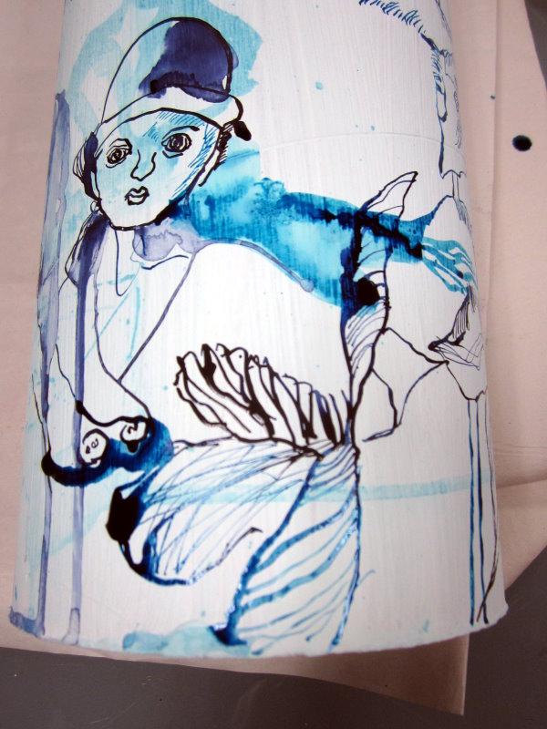Ein kleiner Dreh und es gibt neue Ansichten (c) Zeichnung von Susanne Haun