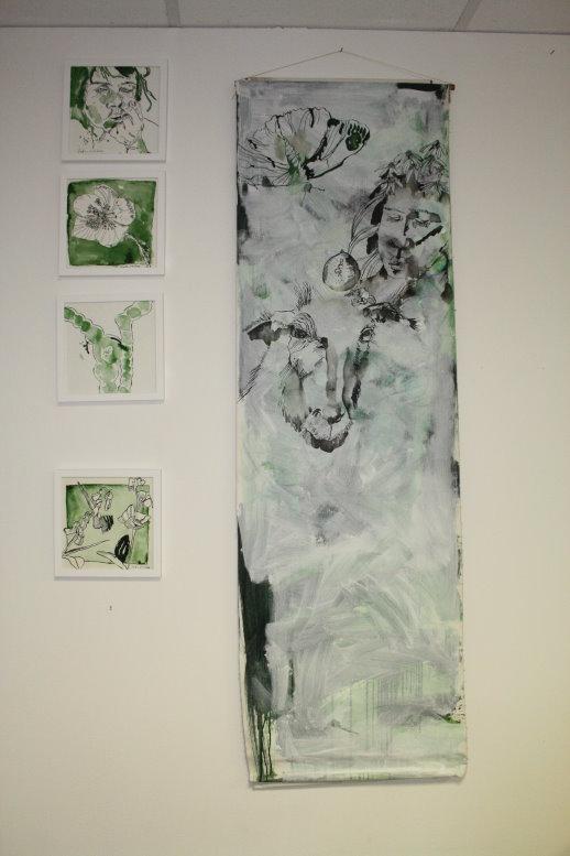 Es paßt, Hängung im Atelier (c) Foto von Susanne Haun