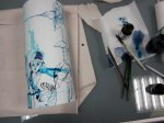 Monochrome blau (c) Zeichnung von Susanne Haun