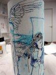 Ich mag die gegenläufigen Flügel (c) Zeichnung von Susanne Haun