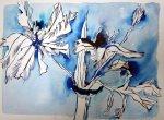 Blume 30 x 40 cm Tusche auf Bütten (c) Zeichnung von Susanne Haun