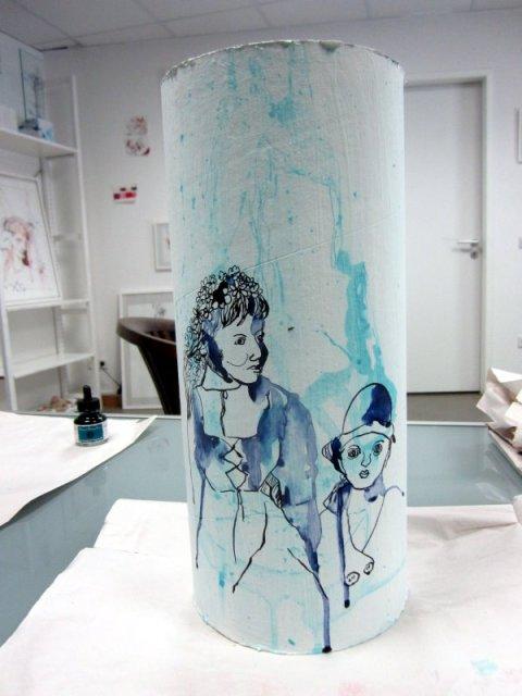 Das neue im Schauspiel - zwei Akteure (c) Zeichnung von Susanne Haun