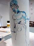 Meine Vorstellung von Prometheus entsteht (c) Zeichnung von Susanne Haun