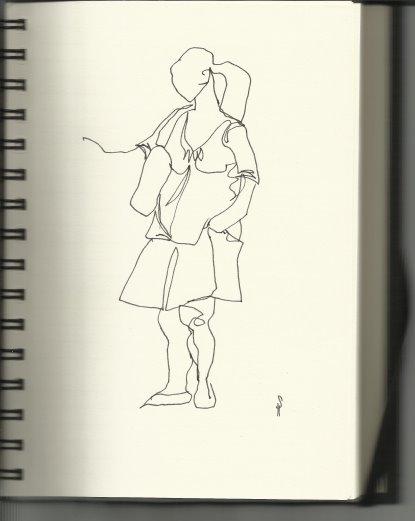 Aus meinem Skizzenbuch - 3. HH Lange Straße (c) Susanne Haun