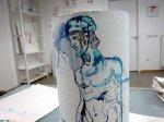 Ich mag die an der Rolle tropfende Tusche (c) Zeichnung von Susanne Haun
