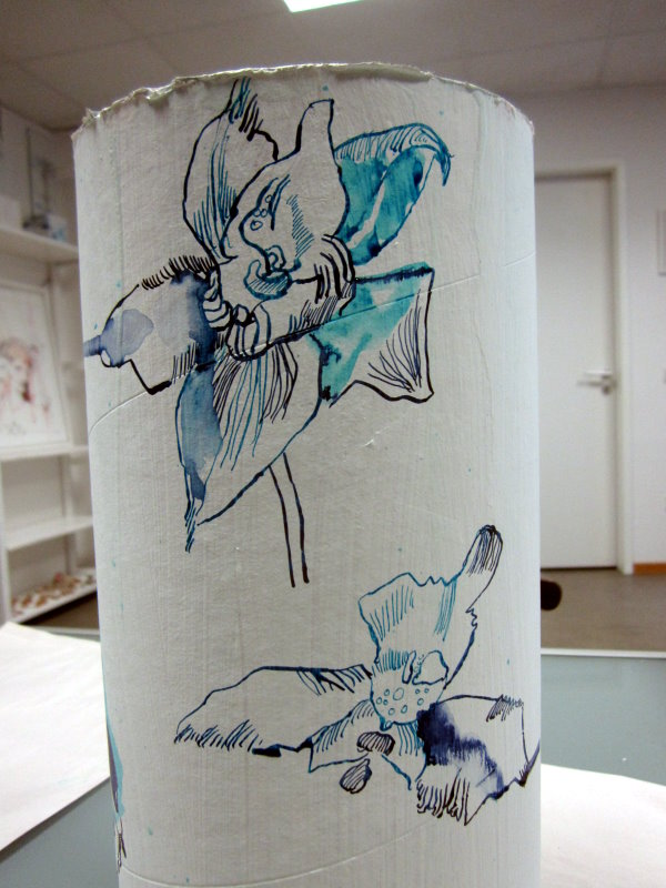Orchideen im Paradies (c) Zeichnung von Susanne Haun