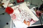 Das rot der Dahlie ist herrlich (c) Susanne Haun