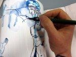 Ich zeichne Prometheus die Qual des Adlers neben dem Kopf (c) Zeichnung von Susanne Haun