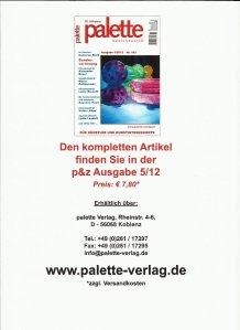 Palette Zeitschrift