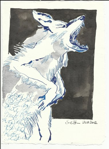 Blatt 27 Er steht auf zwei Pfoten (c) Zeichnung von Susanne Haun