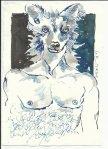 Blatt 28 Anubis oder einer ist geblieben (c) Zeichnung von Susanne Haun