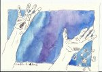 Blatt 4 Zu bestimmten Stunden hörte ich auf zu arbeiten (c) Zeichnung von Susanne Haun
